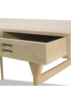 Snedkergaarden - Skrivebord - ND93 Skrivebord - Oak 4 Drawers