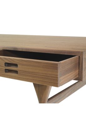 Snedkergaarden - Skrivebord - ND93 Skrivebord - Walnut 3 Drawers