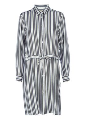 Stig P - Dress - Paki - White/Blue Stripe