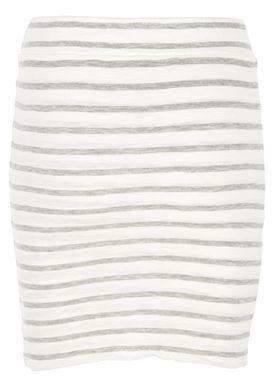 Stig P - Skirt - Amalie Stripe - White/Ligth Grey Stripe