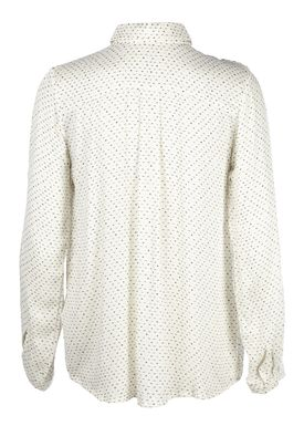Stig P - Skjorte - Emma Print Shirt - Offwhite/Sort Mønster