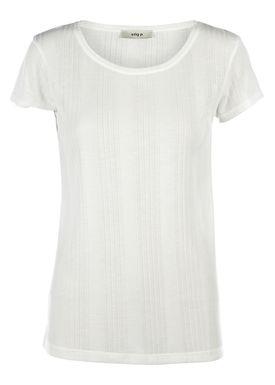 Stig P - T-shirt - Cat - Offwhite