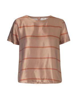 Stig P - T-shirt - Unnur - Karamel Strib