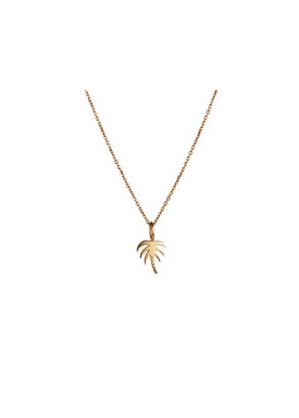 Stine A - Necklace - Plain Pendant Chain Short - Gold