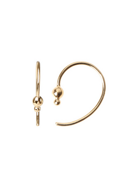 Stine A - Earrings - Petit Balloon Open Creol Earring - Gold