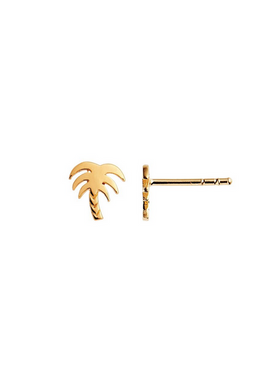 Stine A - Earrings - Petit Palm Earring - Gold