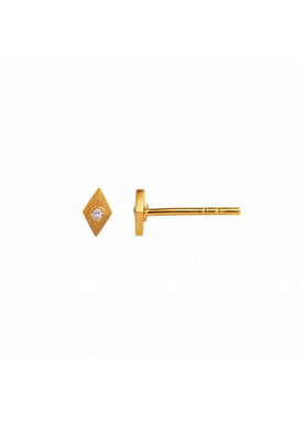 Stine A - Stud Earrings - Petit Harlequin Earring Piece - Gold