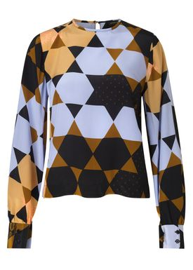 Stine Goya - Blouse - Karolina Silk - Hexagons Amber