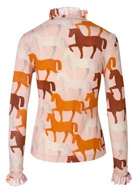 Stine Goya - Blouse - Manila - Horses Pink