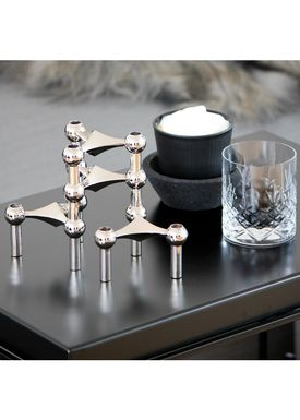 STOFF - Candlestick - Nagel - Chrome