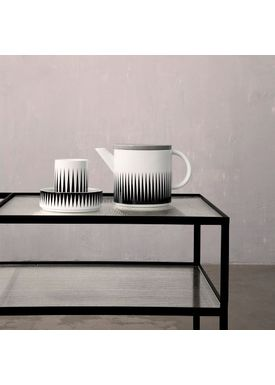 Ferm Living - Kande - Teapot Black - Sort & Hvid