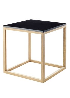 Kristina Dam - Bord - The Cube Table w. Marble Top - Sort