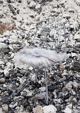 The Organic Sheep - Fåreskind - Sheepskin - Chair pad long hair natural gray