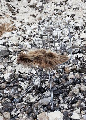 The Organic Sheep - Fåreskind - Sheepskin - Chair pad long hair brown