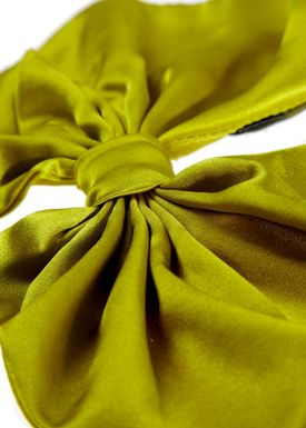 Silk Charmeuse Butterfly Lime