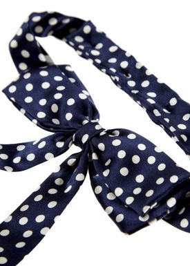 Polka Dot Silk Slips Blå