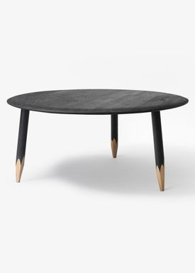 &tradition - Bord - Hoof Table / SW1 / SW2 - Sortbejdset eg / SW2