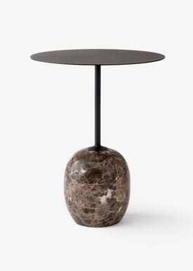 &tradition - Bord - Lato / LN8 / LN9 - Warm black & Emparador marble / LN8