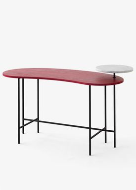 &tradition - Bord - Palette Table - Rød ask & Banco Carrara- JH9