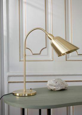 &tradition - Bordlampe - Bellevue / AJ8 af Arne Jacobsen - Messing