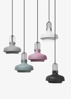 &tradition - Lampe - Copenhagen Pendant - SC6 / SC7 / SC8 - Matt Slate - Small - SC6