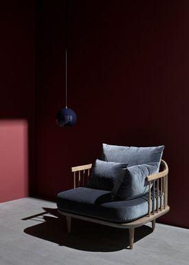 &tradition - Lampe - Topan Pendant Lamp - VP6 af Verner Panton - Sort Blå