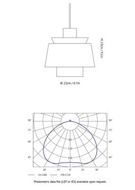 &tradition - Lampe - Utzon Lamp JU1 - Hvid