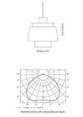 &tradition - Lampe - Utzon Lamp JU1 - Kobber