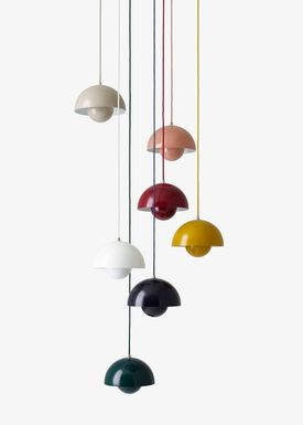 &tradition - Lamp - Flowerpot Pendel VP1 by Verner Panton - White - Matt