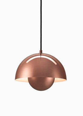 &tradition - Lamp - Flowerpot Pendel VP1 by Verner Panton - Polished copper