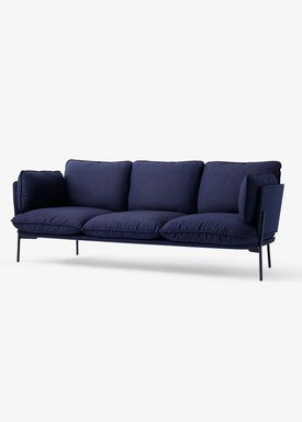 &tradition - Sofa - Cloud Three Seater - Black Blue- sunniva