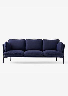 &tradition - Sofa - Cloud Three Seater - Black Blue- sunniva
