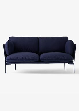 &tradition - Sofa - Cloud Two Seater - Black Blue- Sunniva