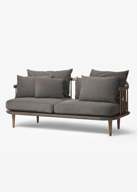 &tradition - Sofa - Fly Sofa - Smoked oiled oak with hot madison