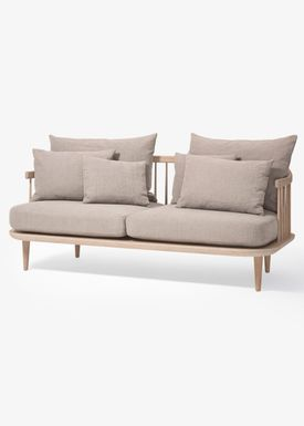 &tradition - Sofa - Fly Sofa / SC2 / SC3 / SC12 - White oiled oak with hot madison / SC2
