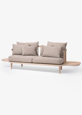 &tradition - Sofa - Fly Sofa / SC2 / SC3 / SC12 - White oiled oak with hot madison / SC3