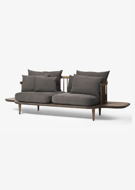 &tradition - Sofa - Fly Sofa with side tables - Smoked oiled oak with hot madison
