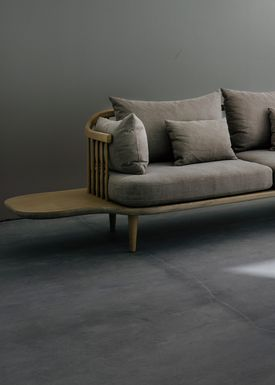 &tradition - Sofa - Fly Sofa with side tables - White oiled oak with hot madison