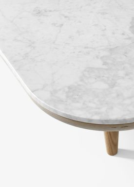 &tradition - Sofabord - FLY Table / SC4 / SC5 / SC11 - SC5 / White oiled oak / Bianco Carrara marble