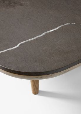 &tradition - Sofabord - FLY Table / SC4 / SC5 / SC11 - SC4 / White oiled oak / Pietra di Fossena marble