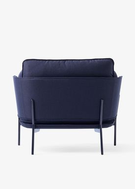 &tradition - Stol - Cloud One Seater - Black Blue- Sunniva