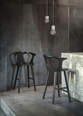 &tradition - Chair - In Between Barstool / SK7 / SK8S / K9 / SK10 - Black lacquered oak