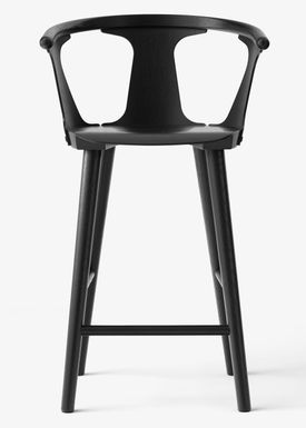 &tradition - Stol - In Between Barstool / SK7 / SK8S / K9 / SK10 - Black lacquered oak
