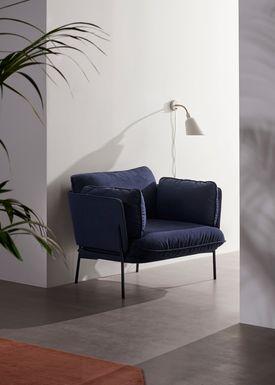 &tradition - Væglampe - Bellevue / AJ9 af Arne Jacobsen - Grå beige og messing