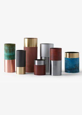 &tradition - Vase - True Colour Vase - Blue Brass- LP5