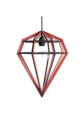 Tvåfota Designduo - Lampe - Döden Lampe (Raw) - Large - Rød