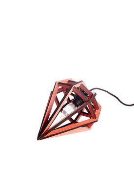 Tvåfota Designduo - Lampe - Döden Lampe (Raw) - Small - Rød
