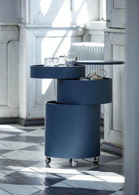 Verpan - Bord - BarBoy af Verner Panton - Blue