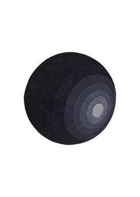 Verpan - Gulvtæppe - Luna Rug by Verner Panton - Mørkegrå