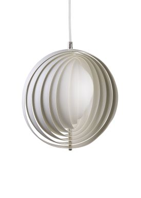 Verpan - Lamp - Moon Pendant by Verner Panton - White - Small